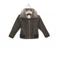 Aviator style sheepskin jacket