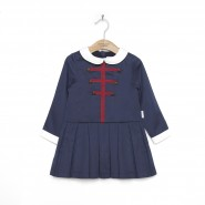 Military cotton dress