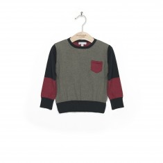 Color blocking knit pullover